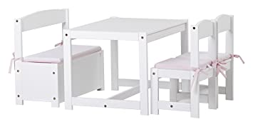 Hoppekids With Table 2 Childrens Chairs And 1 Bench