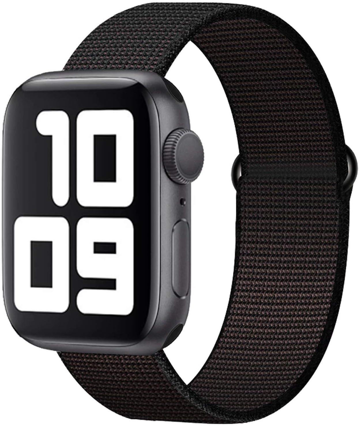 SSEIHI Correa Compatible con Dispositivos Apple Watch 38mm 40mm 42mm 44mm, Correa de Nylon Deportiva Suave de Repuesto Compatible Iwatch Series 5,Series 4,Series 3,Series 2,Series 1