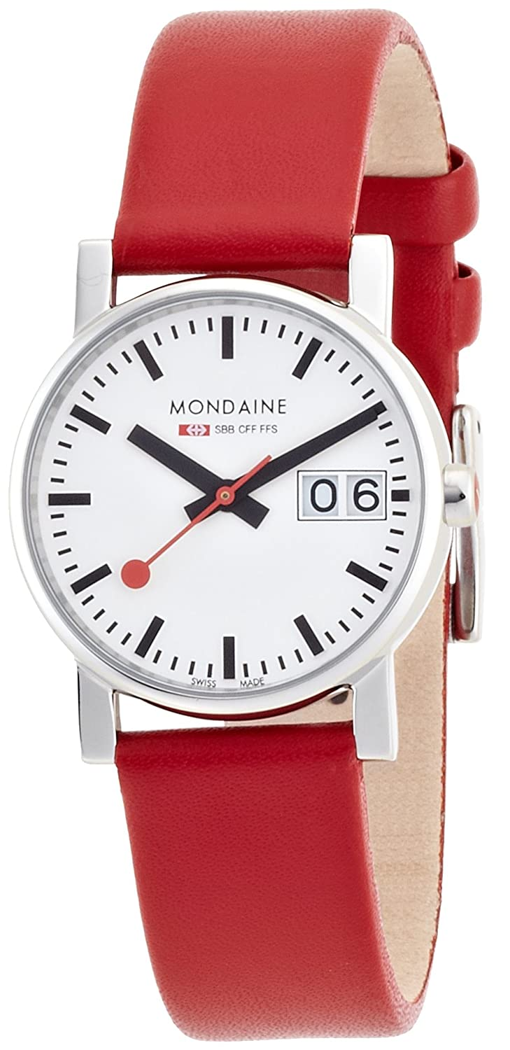 Mondaine Damen-Armbanduhr SBB Evo Big Date 30mm Analog Quarz A669.30305.11SBC