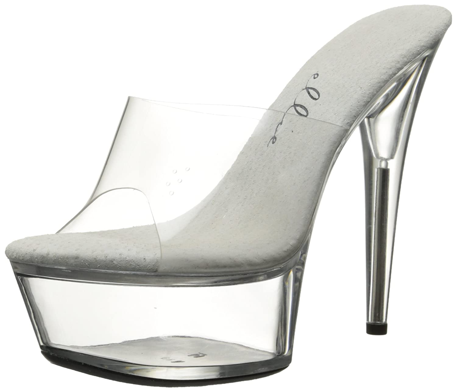 Ellie Shoes Women's 609 Vanity Platform Sandal B000B7CN4I 8 B(M) US|Clear