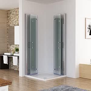 Cabina de ducha 120 x 80 esquina. Ducha Doble Puerta plegable ...