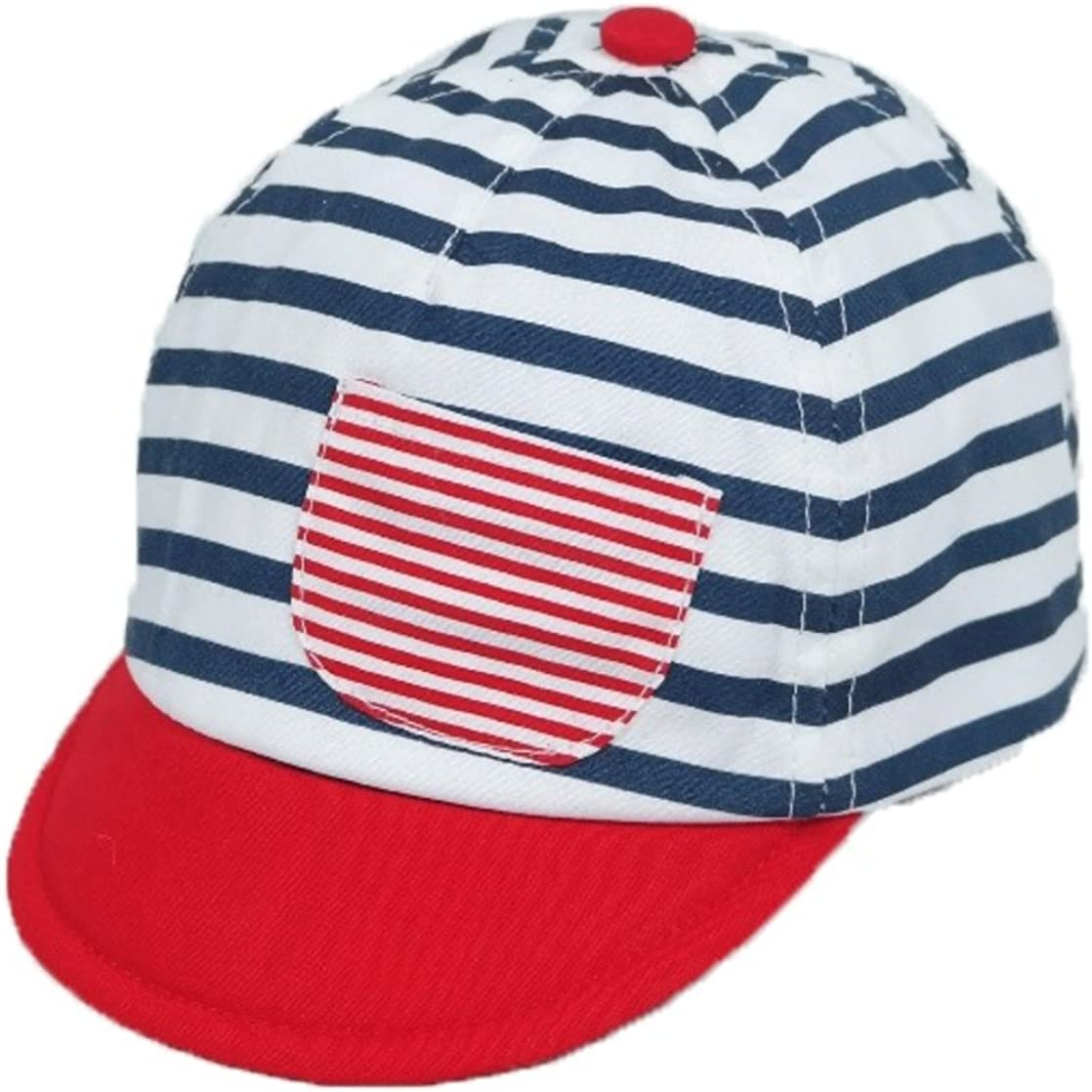 Cute Baby//Toddler Nautical Striped Cap Ages 0-18 Months