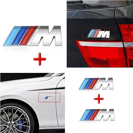 HUAYT 3X M Sport Power Badge Sticker ABS M Logo Logo Auto per F10 F15 F16 F25 F26 F30 Serie I 1 2 3 4 5 7 M3 M5 M6 Z1 Z3 Z4 Z8