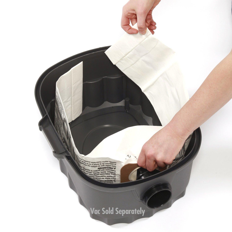 WORKSHOP Wet Dry Vacuum Bags WS32045F2 Fine Dust Collection Shop Vacuum Bags (2-Pack / 4 Shop Vacuum Bags), Bag Filter For WORKSHOP 3-Gallon To 4- 1/2 Gallon Shop Vacuum Cleaners by WORKSHOP Wet/Dry Vacs (Image #2)
