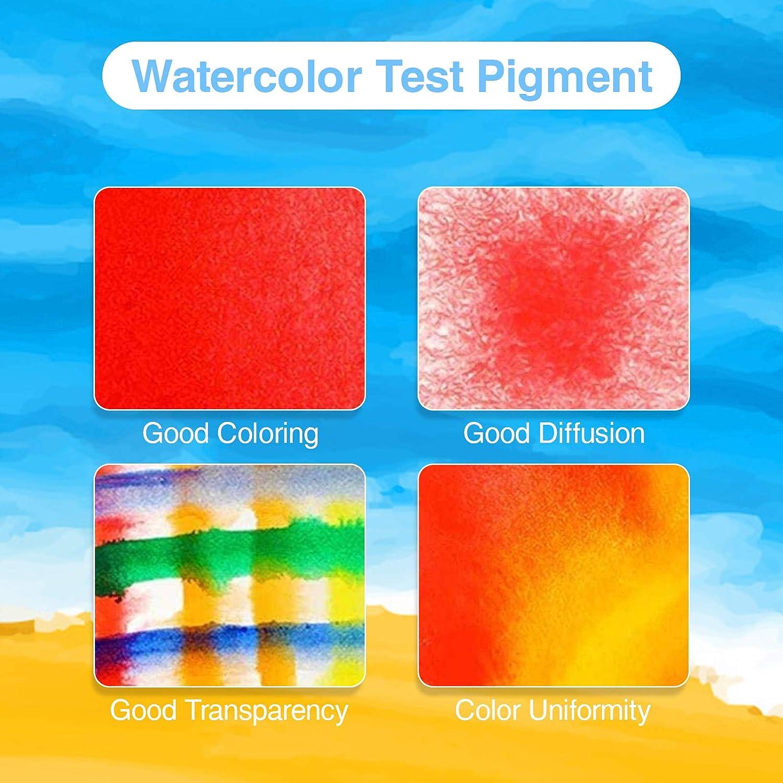 vers/átil f/ácilmente Soluble en Agua Pinturas de Acuarela de 48 Colores ni/ños Principiantes y Profesionales Colores Brillantes Muy /útil,Grabar una Vida Hermosa.