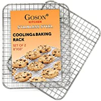 Goson Kitchen Stainless Steel Heavy Duty Metal Wire Cooling, Cooking, Baking Rack For Baking Sheet, Oven Safe up to 575F…