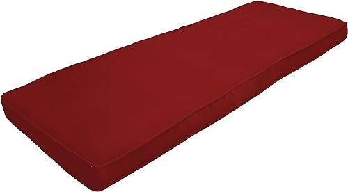 Amazon Custom Furnishings x Easy Way Products 20720 Custom Zipped Double Piped Bench Cushion