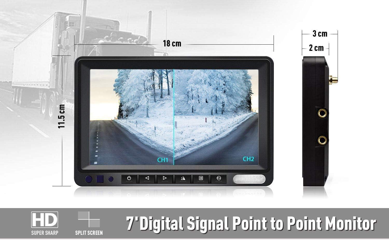 Rückfahrsystem 7 pulgadas monitor con cámara de visión trasera en metal para automóviles autobús camiones
