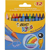 BIC BZ775 Kids Wax Colouring Crayons (Pack of 12)