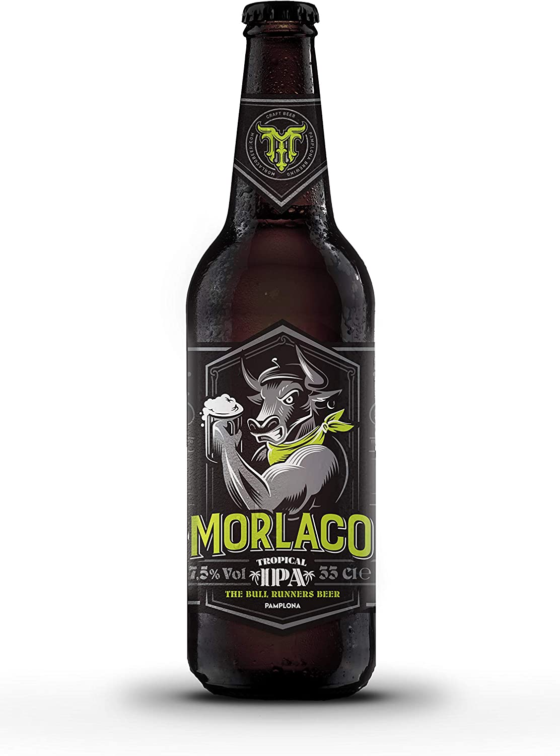 Cerveza artesana Morlaco Tropical IPA (Pack 12 botellines): Amazon ...
