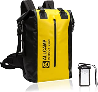ALLCAMP Dry Bag Backpack,Dry Bag, Waterproof Backpack for BOATING, with a Removable Laptop sleeve (Black) with a Removable Laptop sleeve (Black) (Yellow) ALLCAMP OUTDOOR INC.