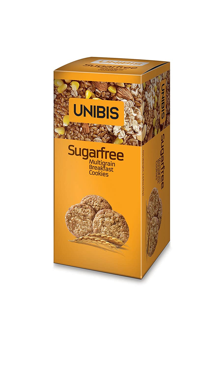 Amazon.com : Sugar Free Cookies - Multigrain Breakfast Cookies - Pack of 4 X 75 Grams - 10.6 Ounces - UNIBIS : Grocery & Gourmet Food