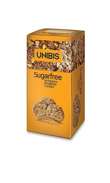 Amazon.com : Sugar Free Cookies - Multigrain Breakfast Cookies - Pack of 4 X 75 Grams - 10.6 Ounces - UNIBIS : Grocery & Gourmet Food