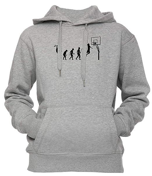 Baloncesto Evolución Unisexo Hombre Mujer Sudadera con Capucha Pullover Gris Los Tamaños Unisex Mens Womens Hoodie Grey: Amazon.es: Ropa y accesorios