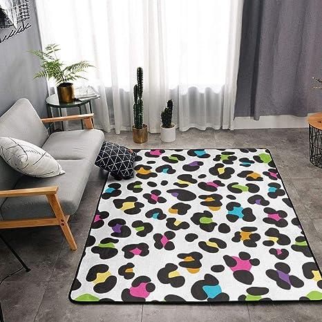 Bedroom Living Room Kitchen Extra Large Kitchen Rugs Home Decor - Colorful  Cheetah Leopard Print Floor Mat Doormats Fast Dry Toilet Bath Rug Yoga Mat  ...