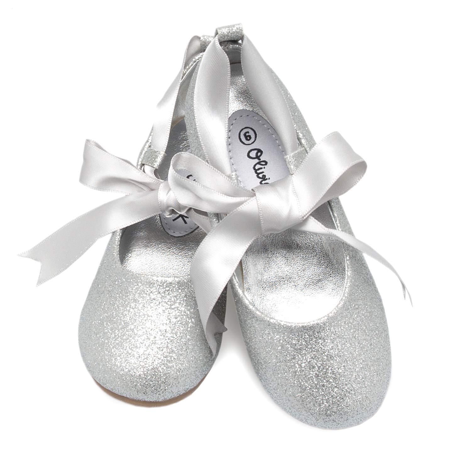 Olivia K Girls Adorable Ballerina Mary Jane Flats