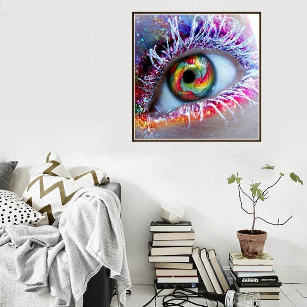 DIY 5D Diamond Painting by Number Kits Color Eye 25x25cm Full Drill Arts Craft Paint DIY Diamond Embroidery New Wall D/écor