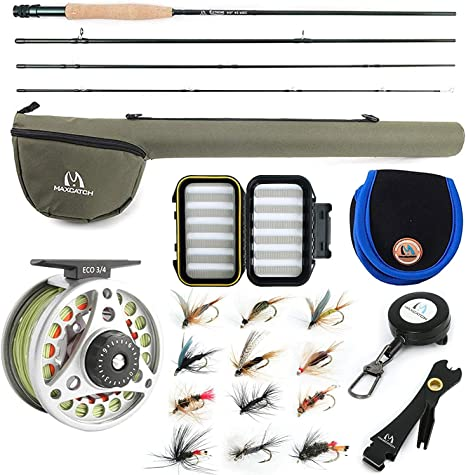 M Maximumcatch Maxcatch Extreme Fly Fishing Combo Kit 345678 weight Fly Rod and Reel Outfit