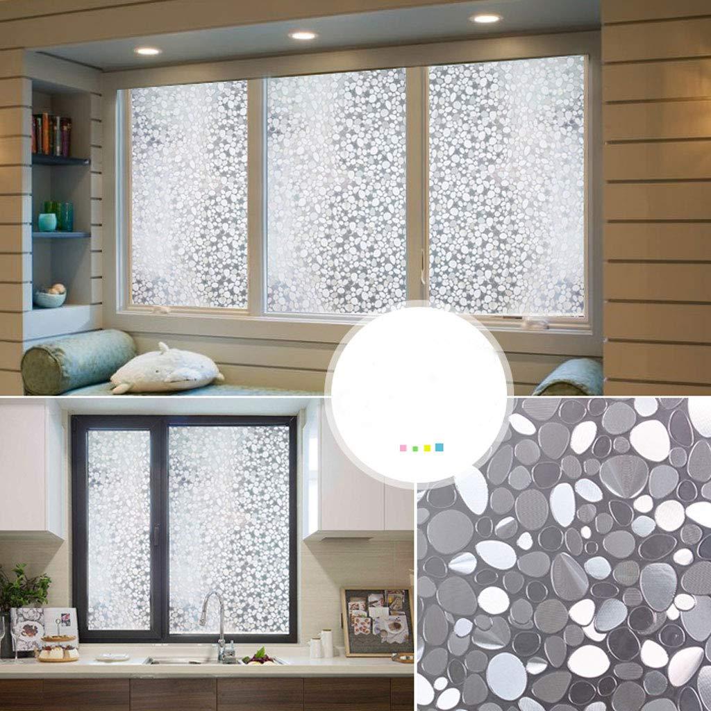taille : 30cmx100cm Film de fen/être autocollants /électrostatiques en verre d/époli transparent Film de salle de bains opaque transparent pour salle de bains
