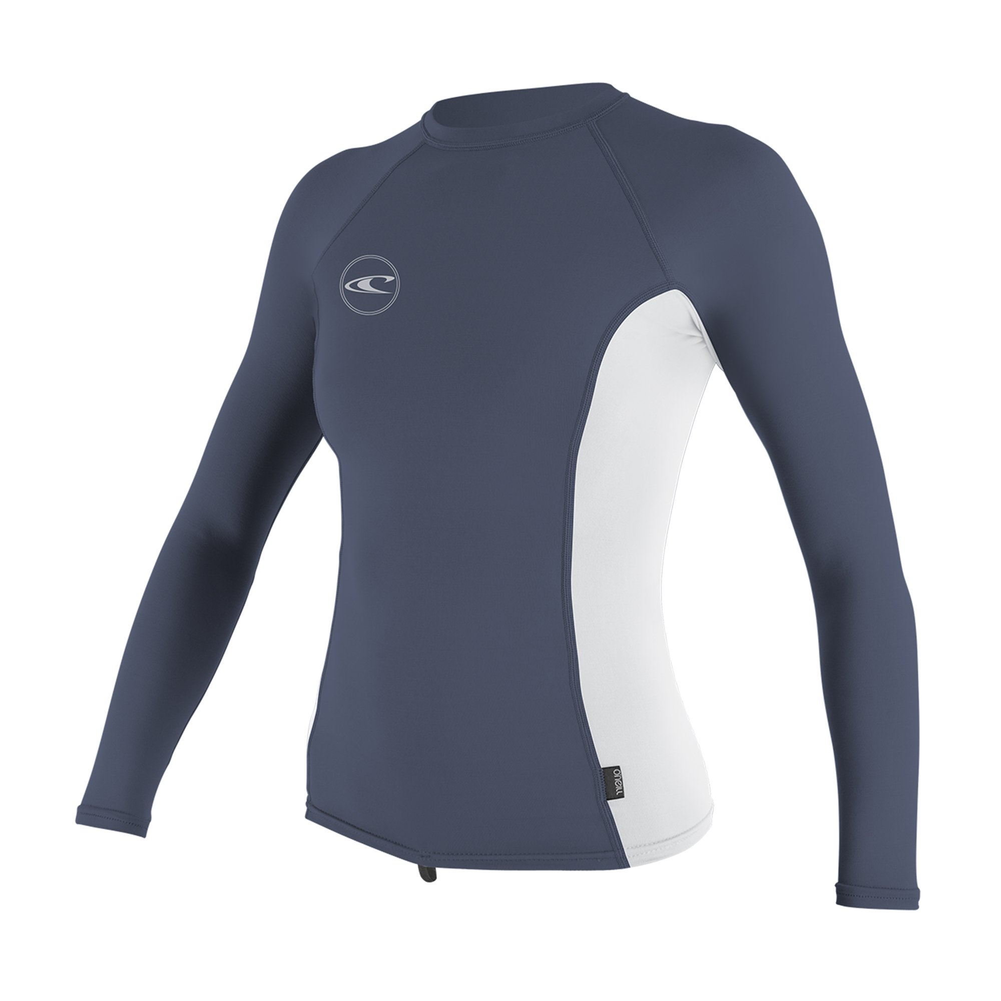 O'NEILL Oneill Womens Basic Long Sleeve Rash Guard - Mist White Mist, Medium by O'NEILL