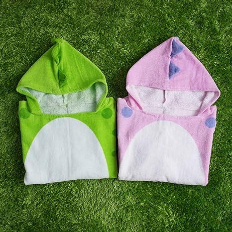 AndyJerzy Toalla de natación de Playa de Secado rápido Toalla de baño de Playa para niños/niñas Varios diseños (Color : Verde, tamaño : 70 * 140cm): ...
