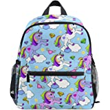 626b58905d4 ZZKKO Rainbow Unicorn Animal Kids Backpack School Book Bag for Toddler Boys  Girls