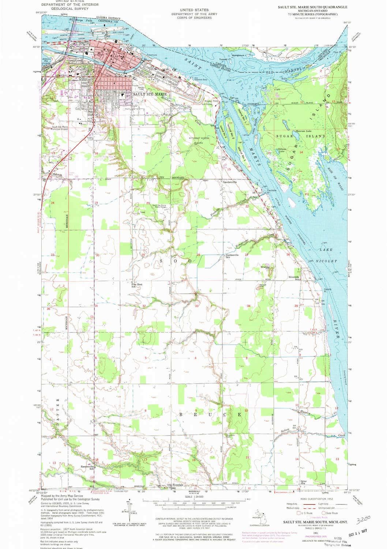 Amazon Com Yellowmaps Sault Ste Marie South Mi Topo Map 1