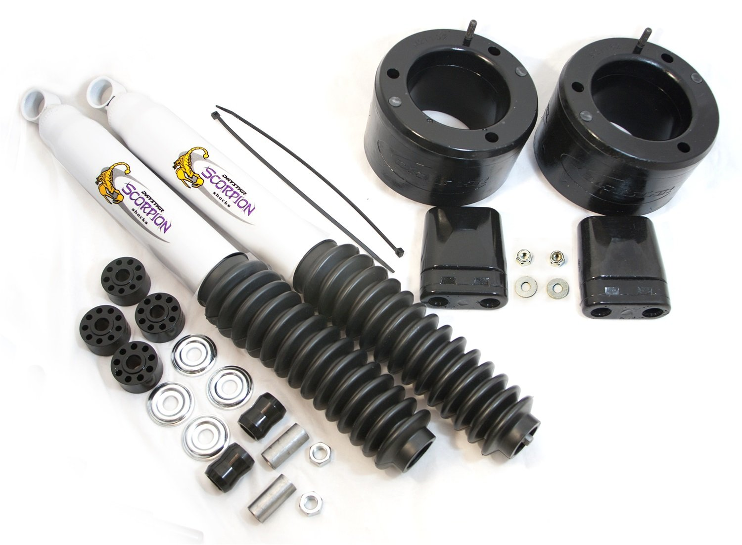 Daystar, Dodge RAM 2500/3500 2'' Leveling Kit with bump stops and front shocks, fits production date of May 2013 to 2017 4WD, all transmissions, all cabs, Does not fit Power Wagon KC09138BK, Made in America by Daystar