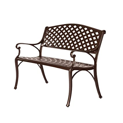Attrayant Naples Bronze Cast Aluminum Patio Bench
