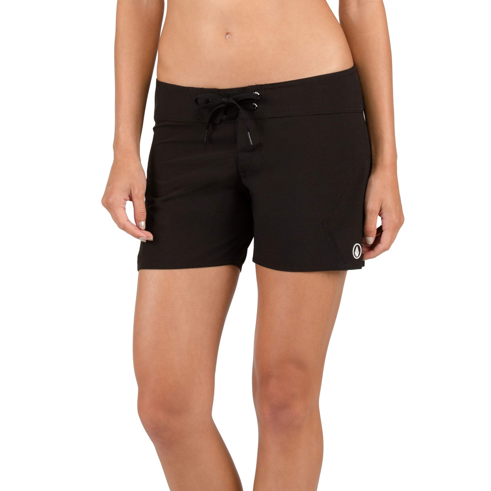Volcom Women's Simply Solid 5 Inch Boardshort, Black, 13 by Volcom