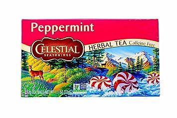 Amazoncom Celestial Seasonings Peppermint Tea Bags 20 ct 2 pk