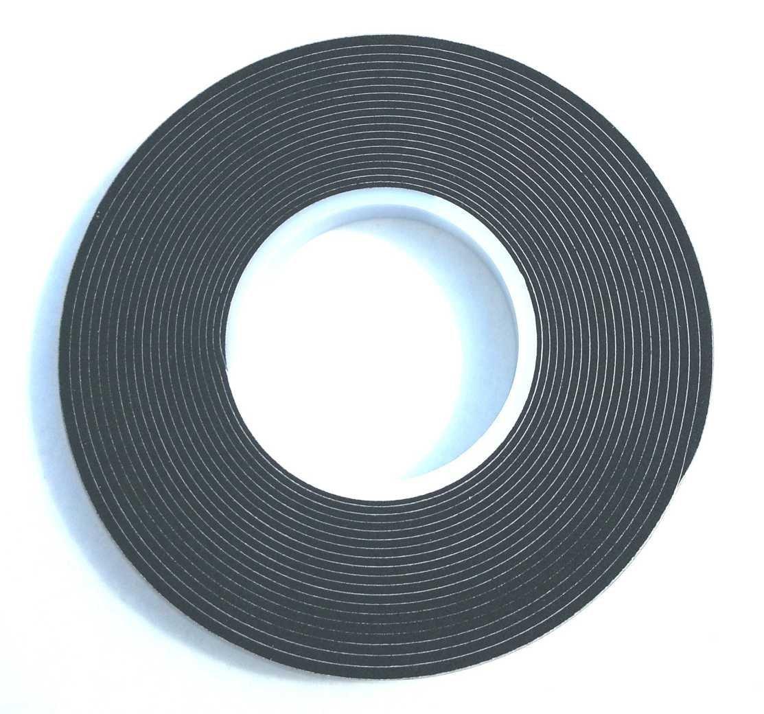 12,5m Komprimierband 10/2 Bandbreite 10mm, Acryl 300, expandiert von 2 auf 10mm, anthrazit, vorkomprimiertes selbstklebendes Dichtungsband Kompriband Fugendichtband Fensterdichtband Quellband TD-Warenhandel