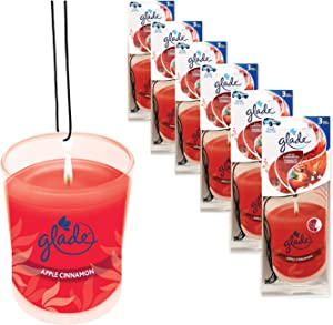 Glade Automotive Hanging Paper Air Freshener: Apple Cinnamon; 18 Count