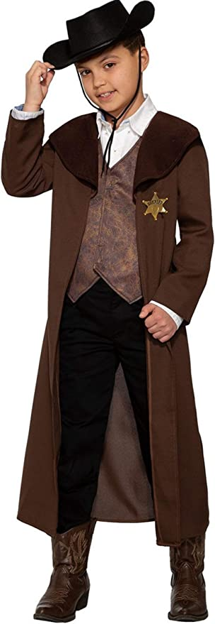 Victorian Kids Costumes & Shoes- Girls, Boys, Baby, Toddler Forum Novelties Childs New Sheriff in Town Costume As Shown Small $26.27 AT vintagedancer.com