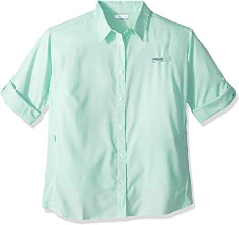 Columbia TamiamiTM II - Camisa de Manga Larga para Mujer (Talla Grande), Mujer, Color Sea Ice, tamaño 3X: Amazon.es: Deportes y aire libre