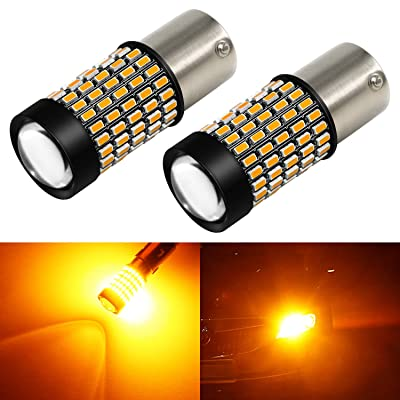Phinlion 2800 Lumens 1156 LED Turn Signal Light Bulbs Super Bright 3014 103-SMD BA15S P21W 1156 7506 LED Bulb with Projector for Turn Signal Blinker Lights, Amber Yellow: Automotive