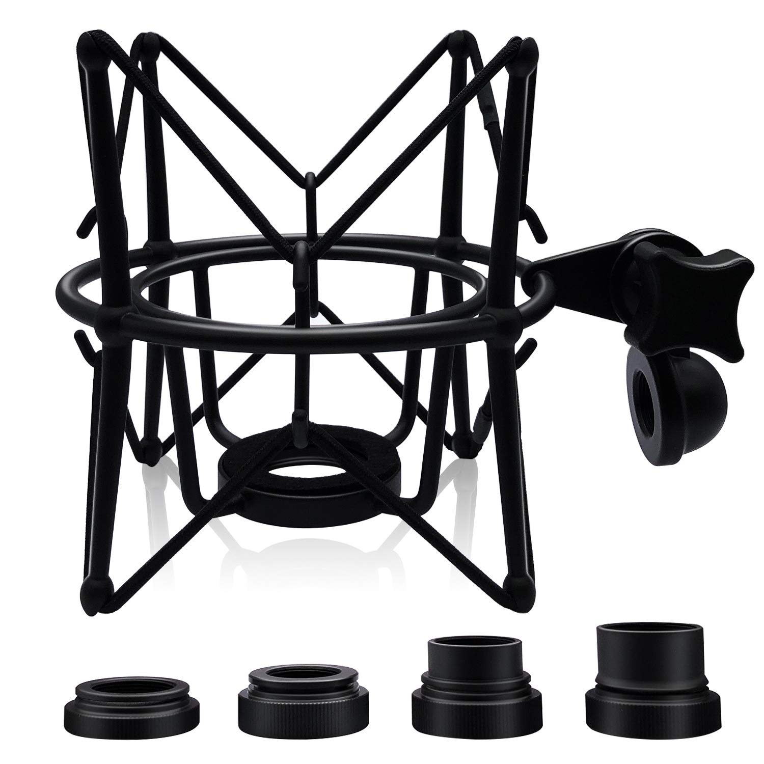 Boseen Microphone Shock Mount Mic Holder - Anti Vibration Spider Shockmount Compatible with Many Condenser Mics Like AT2020 MXL 770 MXL 990 Samson G Track Pro Rode Procaster NT1-A Neumann U87 etc.