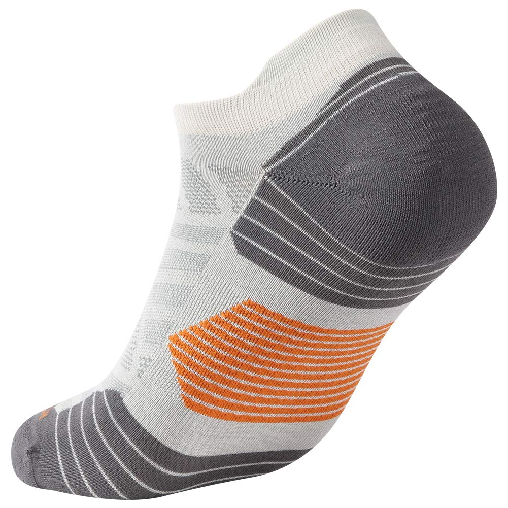 Low Cut Cycling Socks, ZEALWOOD High Performance 3 Pairs Antibacterial Wicking Low Cut Athletic Running Cushion Sports Socks for Men & Women 3 Pairs,Grey by ZEALWOOD (Image #4)