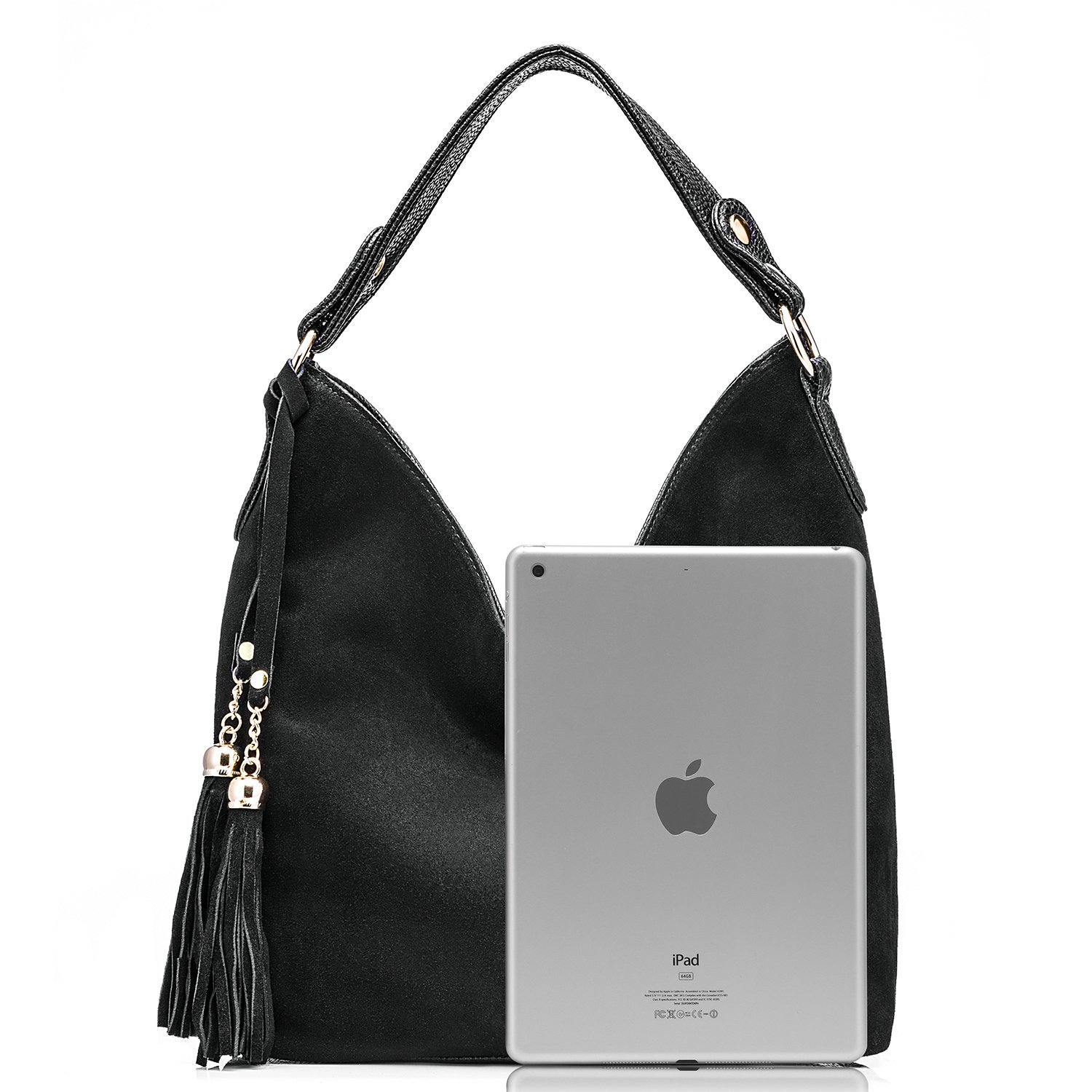 c5c04cf39b Realer Hobo Bag for Women Tote Leather Purse Crossbody Bag Large (Black)   Amazon.com.au  Fashion