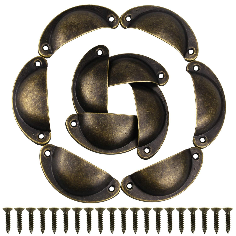 Gpsear 10 pezzi Forma Retro Coperture Cassetto Metallico Maniglia dellarmadio Mobili Manopola Mano Ware Prodotto Ottone Antico