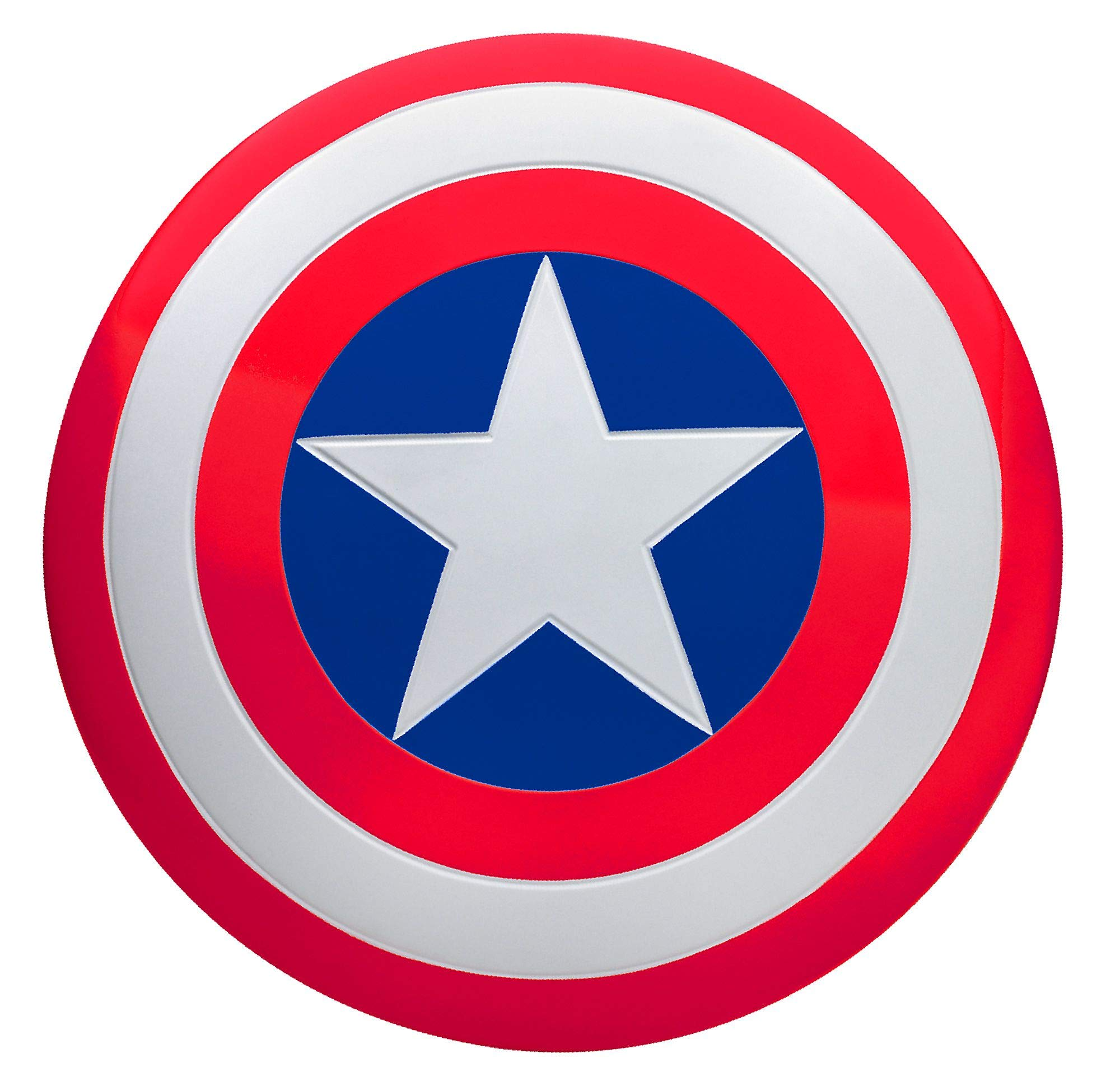 SUIT YOURSELF Captain America Shield for Adults, Measures 24 Inches Diameter, Plastic Prop Has Adjustable Hand Grips