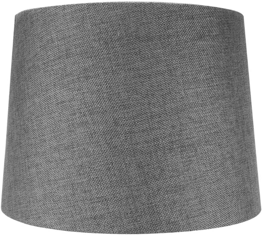 12x14x10 Hardback Drum Lamp Lampshade Granite Grey with Brass Spider Fitter – Perfect for Table and Desk Lamps – Medium, Grey