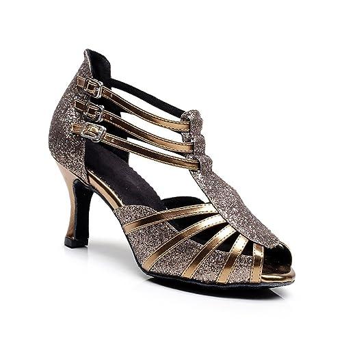 misu - Zapatillas de danza para mujer Negro negro TvfcsPN4Cz