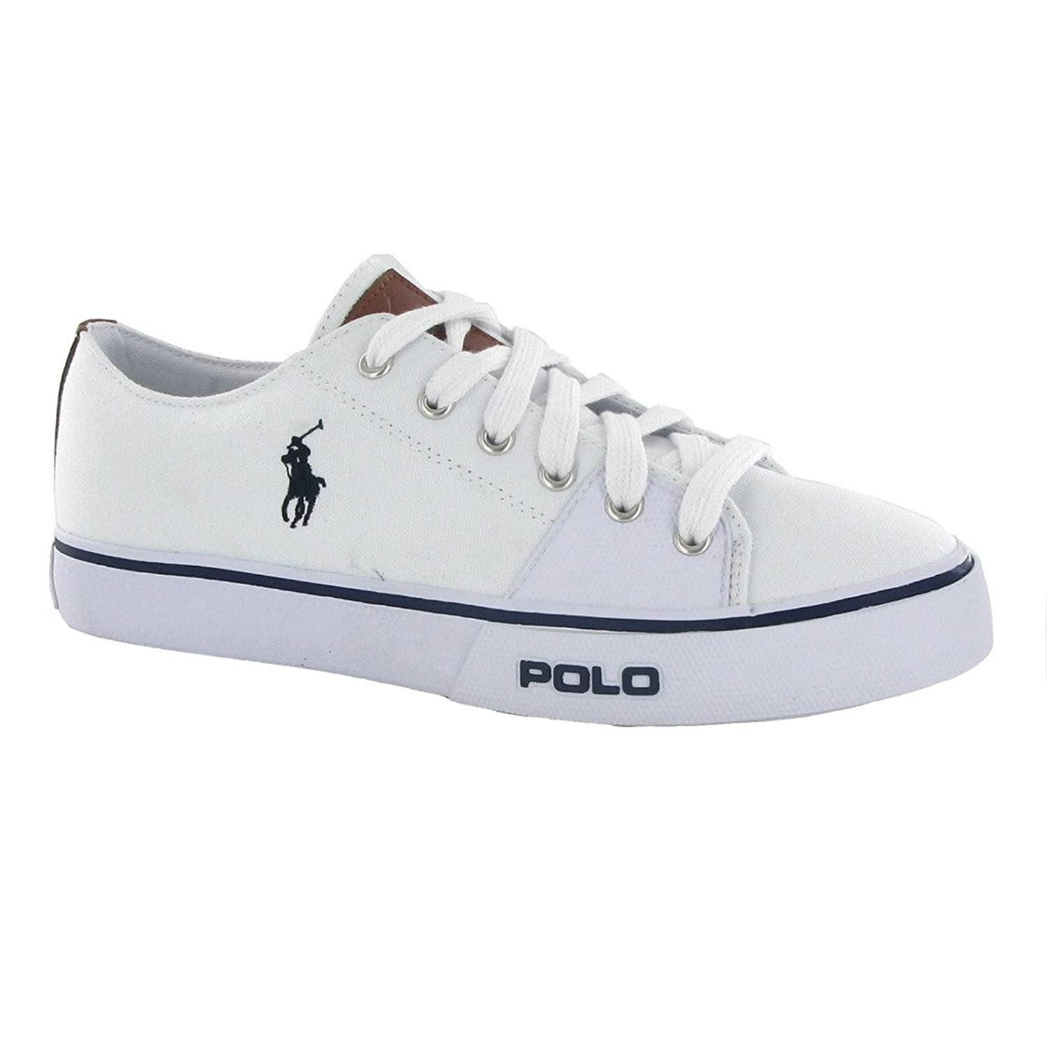 Polo Ralph Lauren Cantor Low White Blue Mens Trainers Size 8 UK Amazoncouk Shoes  Bags
