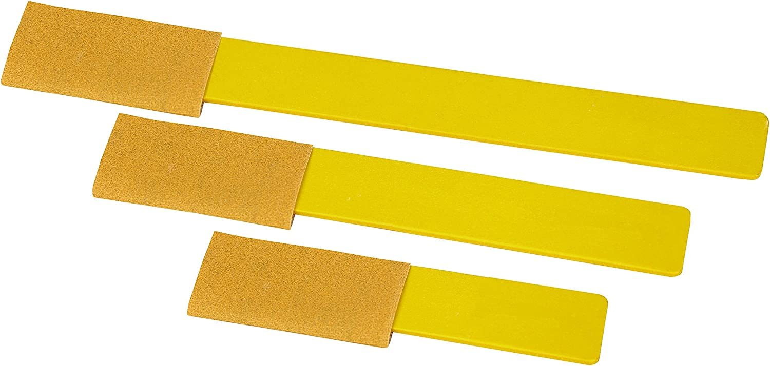"""5 New SANDING STICK Replacement Belts Yellow 3//4/"""" x 10/""""  400 Grit"""