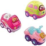 VTech Tut Tut Bólidos - Set de 3 coches de juguete, color rosa (80-203957+C33)