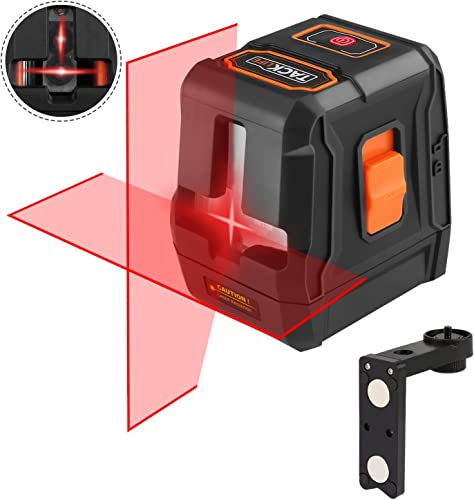 Laser Level self leveling Horizontal Vertical Line and Cross-Line,50Ft with Stable Dual Modules, Pulse Mode, Magnetic Pivoting Base, Carrying Pouch, Battery Included – Tacklife SC-L07