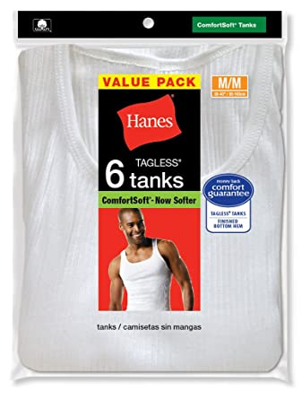 09912d6e4c5e1 Image Unavailable. Image not available for. Color  Hanes Men s Classic Tagless  Tanks ...
