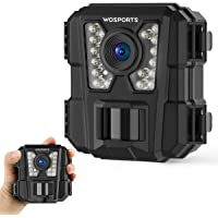 WOSPORTS Mini Trail Camera 1080P Hunting Wildlife Cameras with Night Vision, Upgraded Waterproof IP56 Camera for Home Security Wildlife Monitoring Hunting