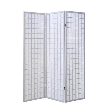 Raumteiler Paravent homestyle4u 260 paravent raumteiler 3 teilig 3 fach holz in weiß